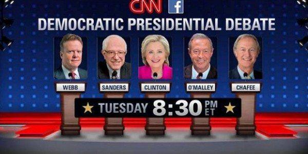 presidential debate dems 2015