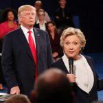trump lurking behind Clinton