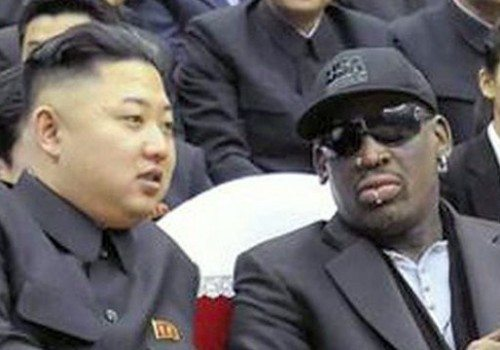 north korea hosts Rodman